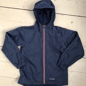 LL BEAN kids rain jacket